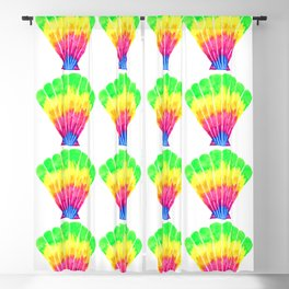 Neon Rainbow Seashell Pattern Blackout Curtain