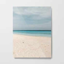 Empty beach Summer vibes | Caribbean Photography Art Print Metal Print