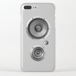 Subwoofer Speaker on black Clear iPhone Case