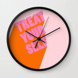 Treat Yourself   Peach Wall Clock