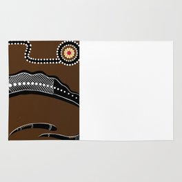 Australian Aboriginal style  Crocodile illustration Rug
