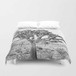 Joshua Tree Giant by CREYES Duvet Cover
