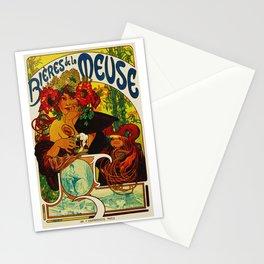 Vintage Art Nouveau Beer Ad Stationery Cards