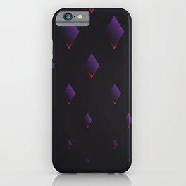 violet rhombus on black ver. complex iPhone Case
