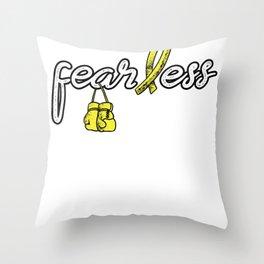 Sarcoma Fearless Shirt - Sarcoma Awareness Tee Throw Pillow