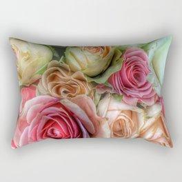 Roses - Pink and Cream Rectangular Pillow