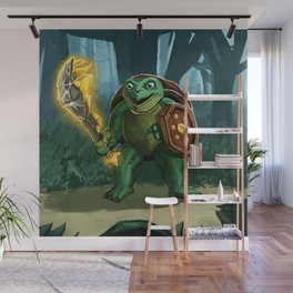 Turtle Paladin Wall Mural