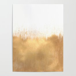 Brushed Gold Poster