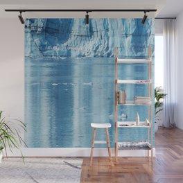 Alaskan Blue Ice Water Reflections in Glacier Bay Wall Mural