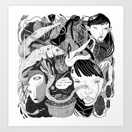brain crowd Art Print