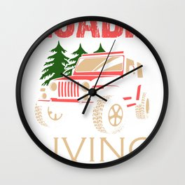 Roadie Band Musicband Concert Tour Gift Wall Clock