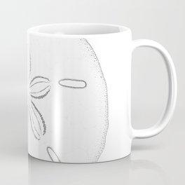 Sand Dollar Blessings - Black on White Pointilism Art Coffee Mug