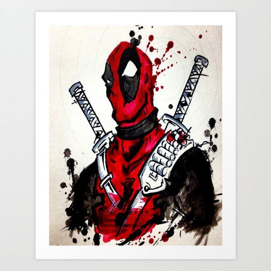 Deadpool Art Print