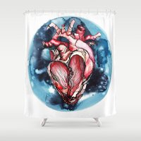planet Shower Curtains featuring Planet by Alla Lsk