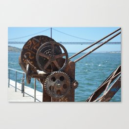 Almada, winching machine Canvas Print
