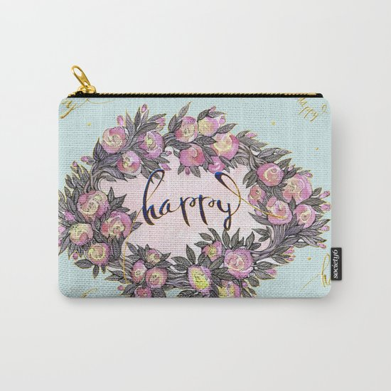 Happy flowers bridal pattern Carry-All Pouch