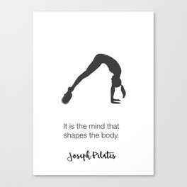 Pilates Art Canvas Print