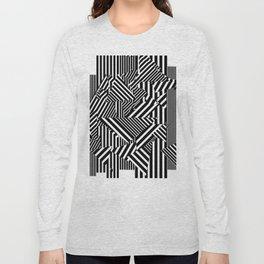 Dazzle Camo #01 - Black & White Long Sleeve T-shirt