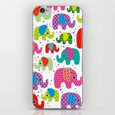 Colorful india elephant kids illustration pattern iPhone & iPod Skin