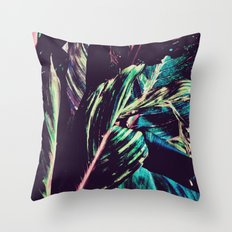 Funky Leaves  Throw Pillow