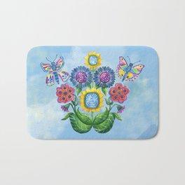 Butterflies and Flowers Bath Mat