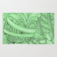 zentangle Area & Throw Rugs featuring Zentangle by Annalisa Amato Art