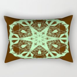 Green Mandala Rectangular Pillow