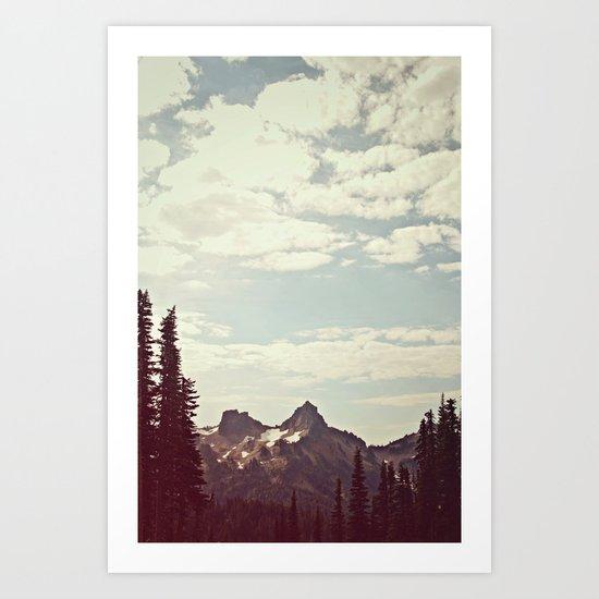 Vintage Mountain Ridge Art Print