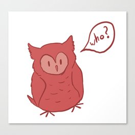 Fluffy Red Owl Canvas Print