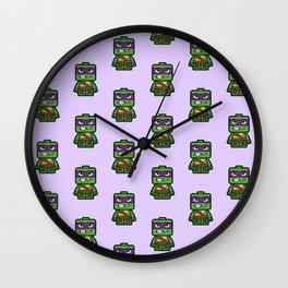 Chibi Donatello Ninja Turtle Wall Clock