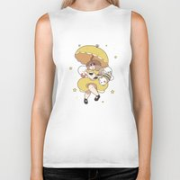 bee and puppycat Biker Tanks featuring Bee and Puppycat by Kaciel