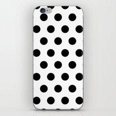 Polka Dots Black & white iPhone & iPod Skin