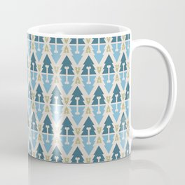 X-Mas Dog surface pattern (blue-green) Coffee Mug