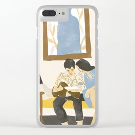 You and me and the music Clear iPhone Case