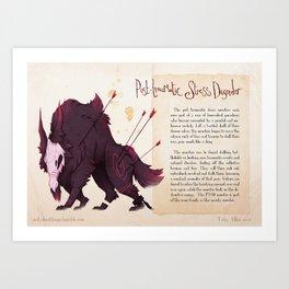 Real Monsters- PTSD Art Print