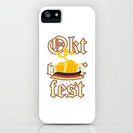 Awesome Oktoberfest Prost German Bier Beer Festival iPhone Case