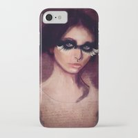 raven iPhone & iPod Cases featuring Raven by SannArt
