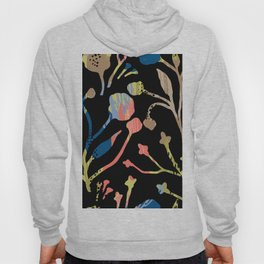 Modern abstract coral brown yellow brushstrokes floral Hoody