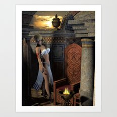 Watching From The Shadows Art Print