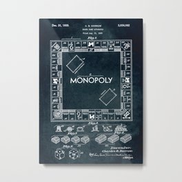 1935 - Board game apparatus (Monopoly) Metal Print