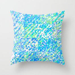 Blue Green Delight (Squares) Throw Pillow