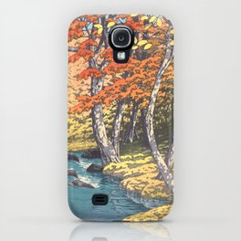 Japanese Woodblock -  Autumn in Oirase by Kawase Hasui, 1933 iPhone Case