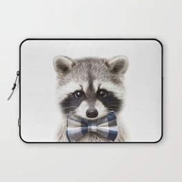 Baby Raccoon With Bow Tie, Baby Animals Art Print By Synplus Laptop Sleeve