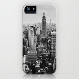 Black & White NYC Skyline iPhone Case