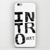 introvert iPhone & iPod Skins featuring Introvert by Lizzi Davis