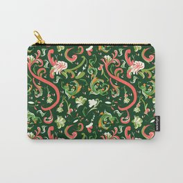 Swirly Trendy_Green Carry-All Pouch
