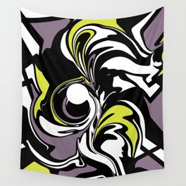 Abstract Fairy in Lime and Purple Wall Tapestry