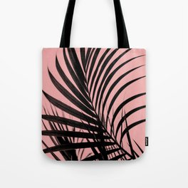 Simple palm leaves paradise with peach Tote Bag