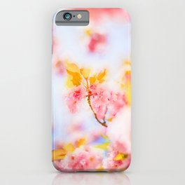 Cherry pink blossoms watercolor painting #5 iPhone Case