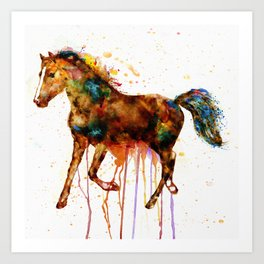 Watercolor Horse Art Print